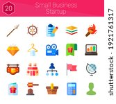 small business startup icon set....