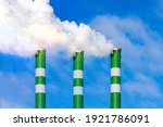 Three Industrial Smoke Pipes...