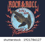 rock and roll freedom eagle...   Shutterstock .eps vector #1921786127