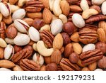 Mixed Nuts Set Closeup. Organi...