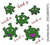 covid 19. virus corona in... | Shutterstock .eps vector #1921804571