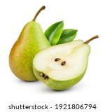 Pears Isolated. One And A Half...