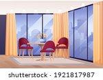 modern living or hotel room... | Shutterstock .eps vector #1921817987