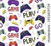 gamer pattern. seamless print... | Shutterstock .eps vector #1921819724