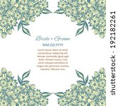 wedding invitation cards with... | Shutterstock .eps vector #192182261