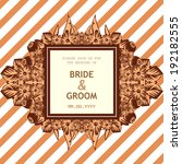wedding invitation cards with...   Shutterstock .eps vector #192182555
