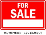 for sale sign with white... | Shutterstock .eps vector #1921825904