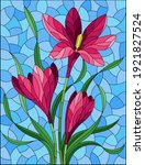 illustration in stained glass... | Shutterstock .eps vector #1921827524