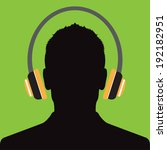 man profile with headphone... | Shutterstock .eps vector #192182951