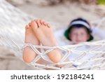 Closeup Of Little Boy's Feet ...