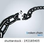 broken chain   Shutterstock .eps vector #192185405