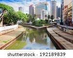 klang kelang  river and mosque...   Shutterstock . vector #192189839