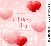 happy mother's day cute pink... | Shutterstock .eps vector #1921900961