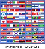 shiny flags | Shutterstock . vector #19219156