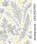 botanical background with... | Shutterstock .eps vector #1921937957