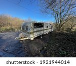Abandoned  Caravan In A Lay By...