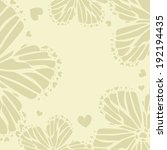 beige frame with abstract... | Shutterstock .eps vector #192194435