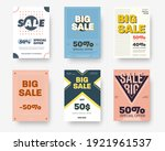 vector posters with cross ... | Shutterstock .eps vector #1921961537