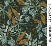 tropical print. seamless...   Shutterstock . vector #1921974044