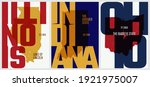vector posters states of the... | Shutterstock .eps vector #1921975007