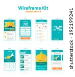 wireframe kit mobile app v.4