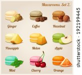 macaroons with different... | Shutterstock .eps vector #192199445