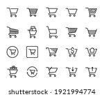 shopping cart line icon set.... | Shutterstock .eps vector #1921994774