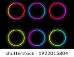 set of glowing lights neon... | Shutterstock .eps vector #1922015804