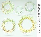bright fresh circle round... | Shutterstock .eps vector #192204059