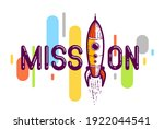 mission word with rocket...   Shutterstock .eps vector #1922044541