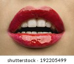 sexy lips. beauty red lips... | Shutterstock . vector #192205499