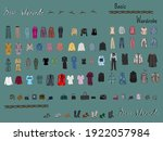 clothes  footwear   shoes and... | Shutterstock .eps vector #1922057984