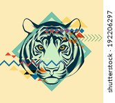 colorful portrait of a tiger.... | Shutterstock .eps vector #192206297
