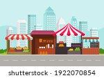 roadside fruit vegetable store... | Shutterstock .eps vector #1922070854