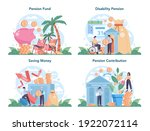pension fund set. saving money... | Shutterstock .eps vector #1922072114