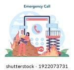 fireman online service or... | Shutterstock .eps vector #1922073731