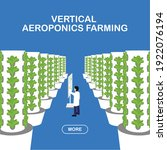 aeroponic farm with electronic... | Shutterstock .eps vector #1922076194