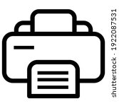 printer  line vector icon ...