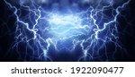 Flash Of Lightning On Dark...