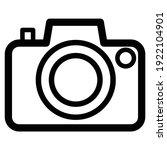 camera icon for graphic design...