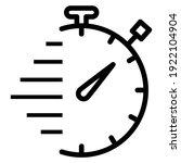 speed timer line icon. timer ...   Shutterstock .eps vector #1922104904