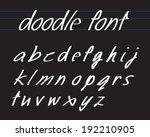 handwriting font bold | Shutterstock .eps vector #192210905
