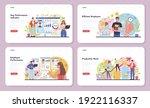 kpi web banner or landing page... | Shutterstock .eps vector #1922116337