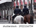 Two Mounted Police Officers On...