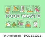 food waste word concepts banner....