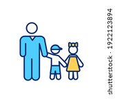 single father rgb color icon.... | Shutterstock .eps vector #1922123894