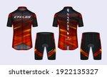 cycling jerseys mockup t shirt... | Shutterstock .eps vector #1922135327