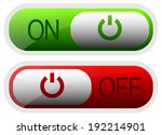 power button rounded rectangles   Shutterstock .eps vector #192214901