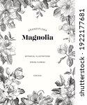 magnolia. spring flowers.... | Shutterstock .eps vector #1922177681