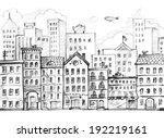 city sketch   Shutterstock . vector #192219161